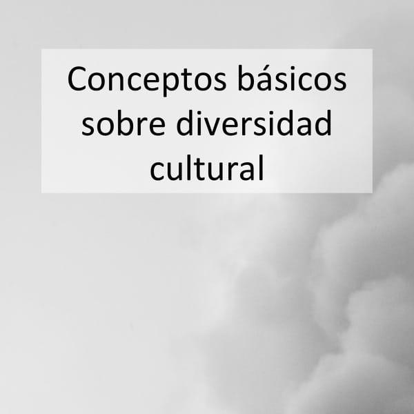 Conceptos básicos sobre diversidad cultural