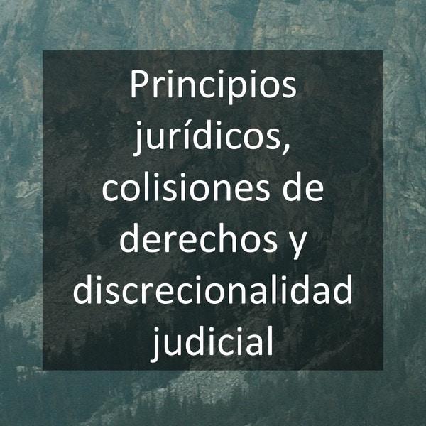 Principios jurídicos, colisiones de derechos y discrecionalidad judicial